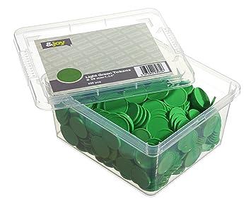 En-Joy Jetons Plastiques Vierges Vert - 500 pièces - 29 mm
