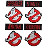 Lot of 8 Ghostbusters Movie Costume Embroidered Iron On Sew On Patch by Miltacusa (Color: Multicolored, Tamaño: 3.5)