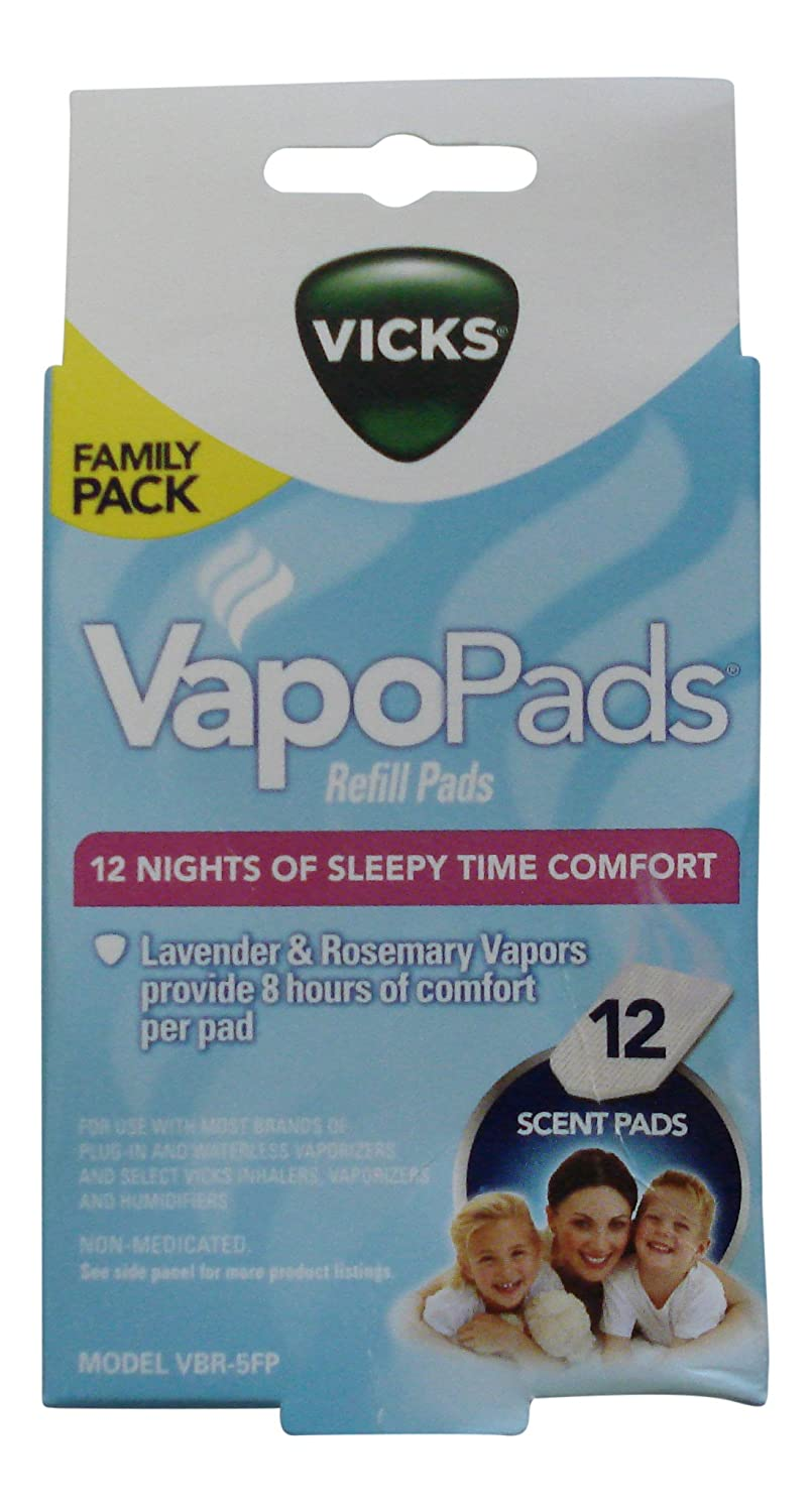 Vicks Sleepy Time Vapor Scented Refill Pads Family Pack, Lavender And Rosemary Scent-12 Pads