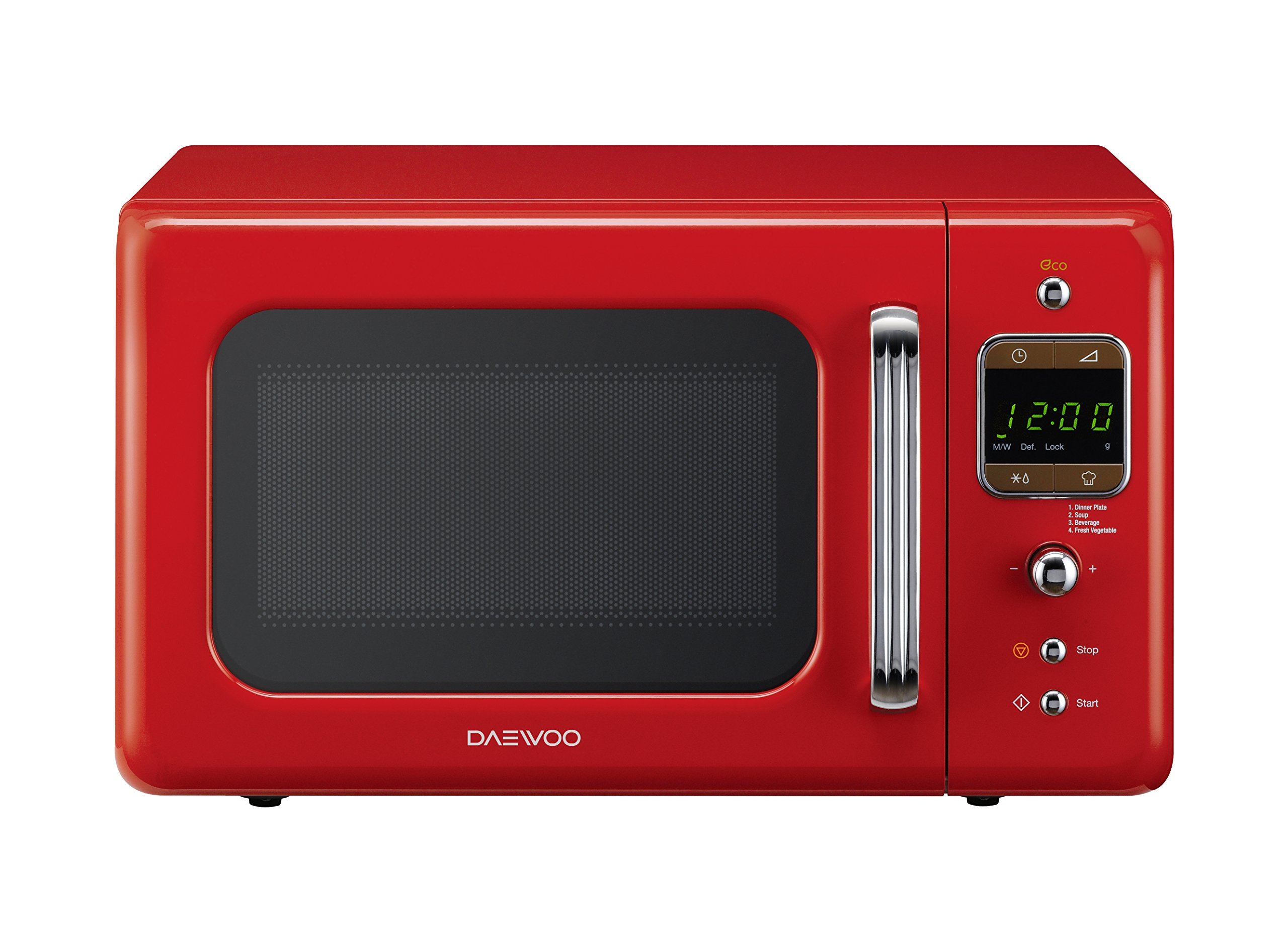 daewoo retro microwave oven red daewoo ebay. Black Bedroom Furniture Sets. Home Design Ideas