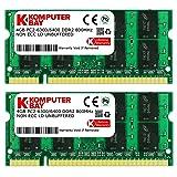 Komputerbay 8GB 2X 4GB DDR2 800MHz PC2-6300 PC2-6400 DDR2 800 (200 PIN) SODIMM Laptop Memory (Tamaño: 8 Gb)