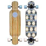 Sola Bamboo Premium graphic design Complete longboard Skateboard - 36 to 38 inch (GEOMETRY)