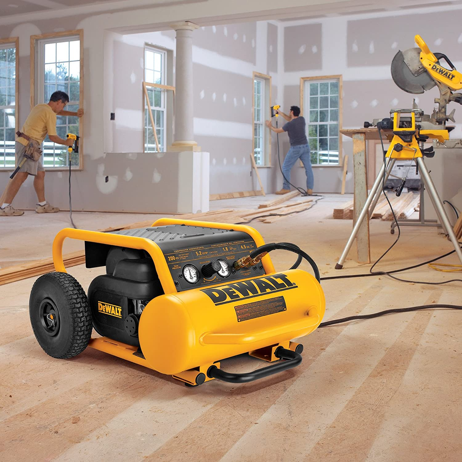 dewalt portable air compressor use