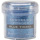 Ranger Embossing Powder, 1-Ounce Jar, Blue Tinsel (Color: Blue Tinsel)