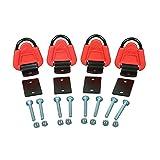 ATV Tek ATVTDA1 Straplock ATV/UTV Tie Down Anchor, 4 Pack