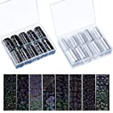 2 Boxes 20 Sheets Christmas Nail Decals Nail Art Stickers Nail Foil Transfer Wraps for Women Nail Art Decorations (Style Set 2)