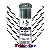 WeldingCity 10-pcs Premium TIG Welding Tungsten Electrode Rod 2.0% Ceriated (Gray/AWS: EWCe20) 5/32