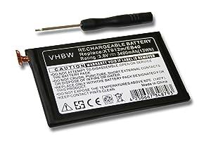 vhbw batería 3400mAh (3.8V) para Smartphone, Teléfono móvil, Celular Motorola Droid Razr Maxx, XT912M, XT916 por EB40, SNN5910, SNN5910A, SNN5910B. - Electrónica - Comentarios de clientes y más información