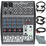 Behringer XENYX 802 8-Channel Compact Premium Audio Mixer with Cables and Basic Bundle