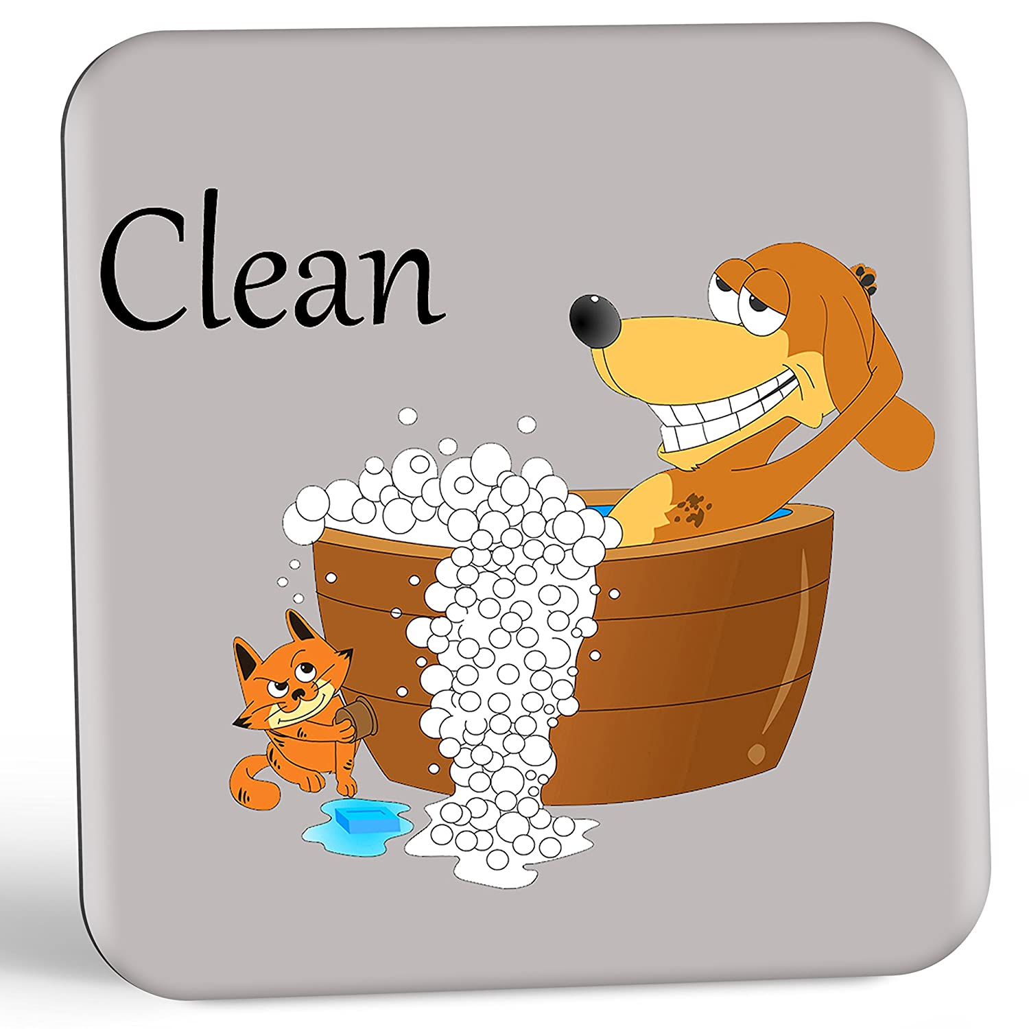 Dish Doggy Clean Dirty Dishwasher Indicator Magnet