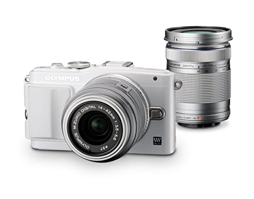 OLYMPUS mirror interchangeable lens PEN Lite E-PL6 double zoom kit white E-PL6 DZKIT WHT Japan Import
