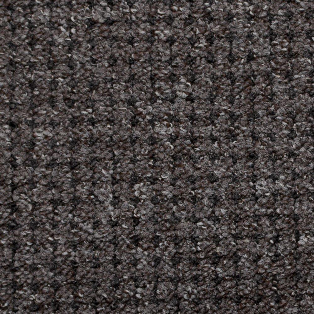 Brown & Grey Carpet with Anthracite Black Dot, Feltback Hardwearing Berber Loop Pile       reviews and more description