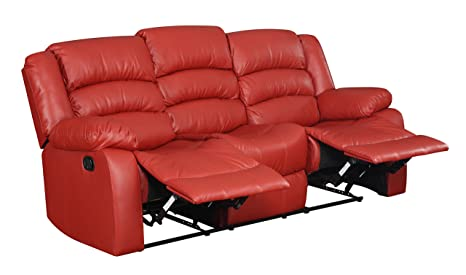 Glory Furniture G949-RS Reclining Sofa, Red