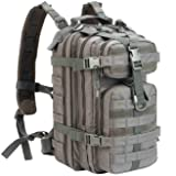 WolfWarriorX Military Tactical Assault Backpack Hiking Bag Extreme Water Resistant Small Rucksack Molle Bug Out Bag for Traveling, Camping, Trekking & Hiking (Gray)