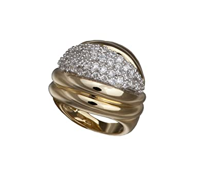 Alvina GOLD Ring - 925/1000 Sterling Silver -Cubic Zirconia Silver