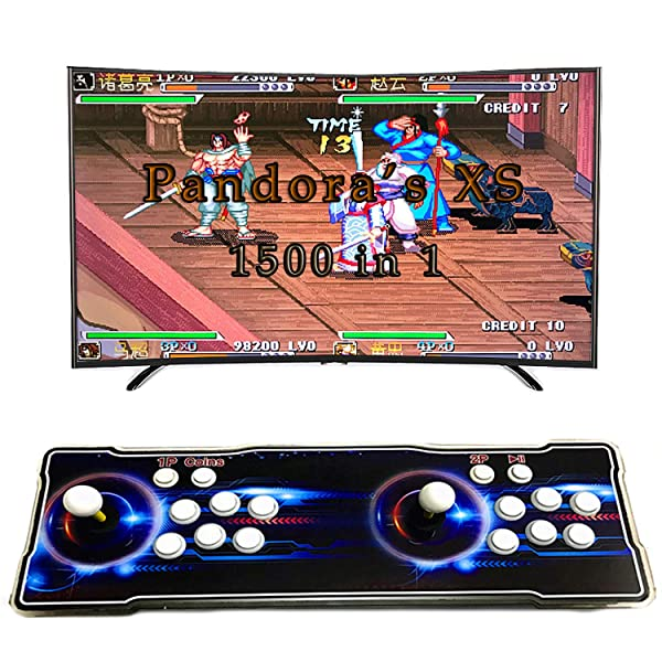 Pandora XS Arcade Video Game 1500 in 1 Retro 2D Games Arcade Machine HD 2 Player PC/PS Arcade Joystick