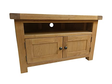 Kingsford Chunky Oak Corner TV Unit