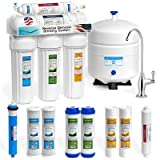 Express Water Reverse Osmosis Water Filtration System – 5 Stage RO Water Purifier with Faucet and Tank – Under Sink Water Filter – plus 4 Replacement Filters – 50 GPD