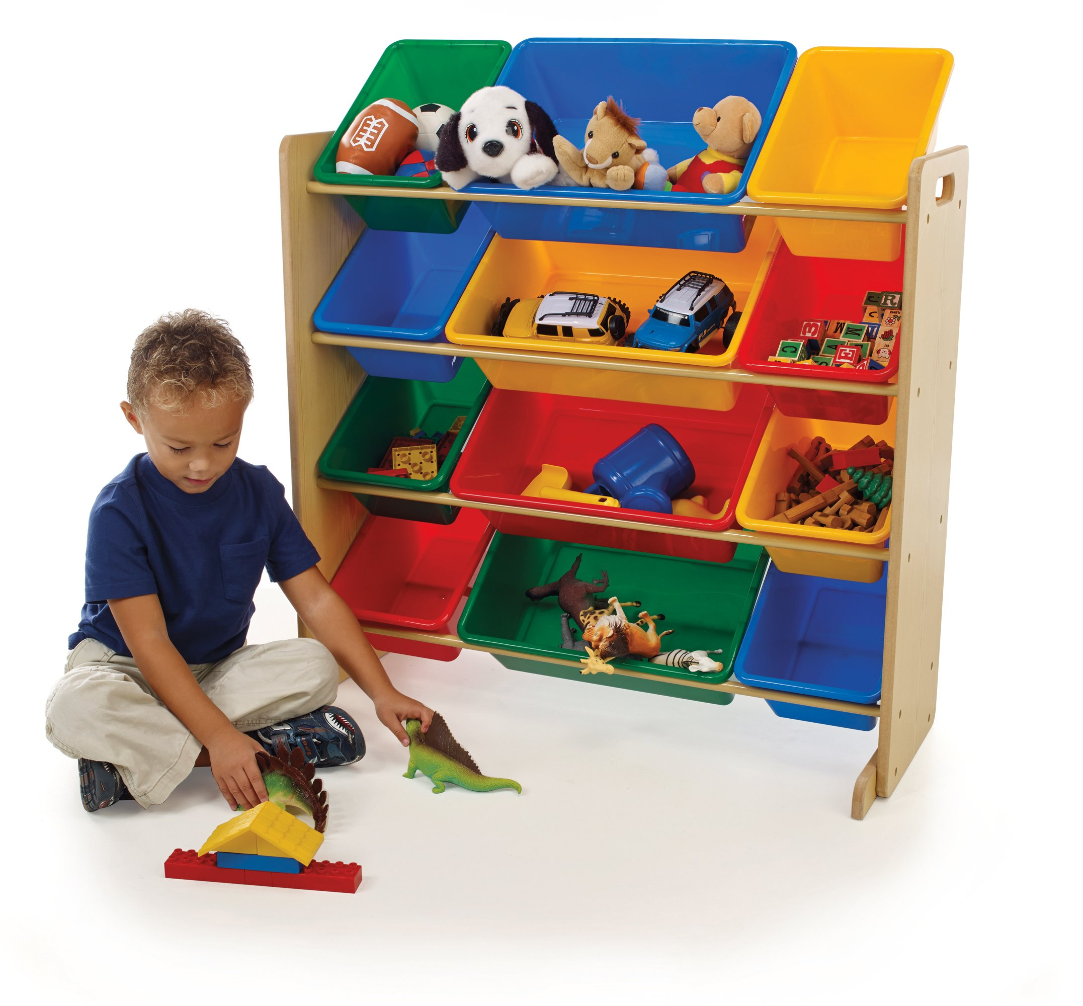 tot tutors kids toy organizer with storage bins primary. Black Bedroom Furniture Sets. Home Design Ideas