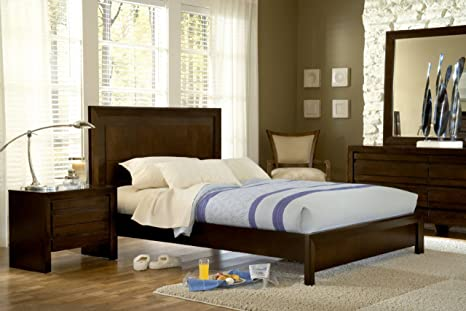 Modus Element Platform Bed in Chocolate Brown - Queen
