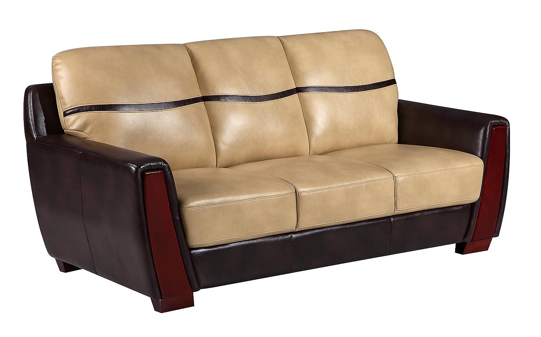 Global Furniture UFM226 - DTP672P - S Pluto Sofa - Ivory/Chocolate