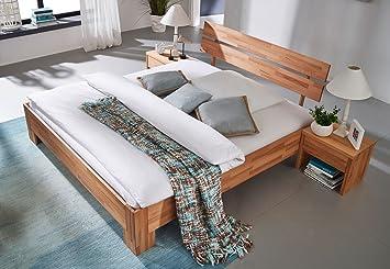 SAM® Massivholzbett Pesto Bett aus Kernbuche geölt 160 x 200 cm geteiltes Kopfteil