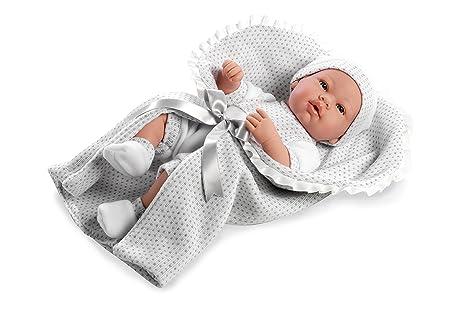 Arias - 65138 - Bébé en PVC dans une couverture - 42 cm