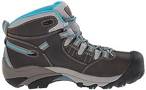 KEEN Utility Women's Detroit Mid Work Boot, Gargoyle/Capri Breeze, 8 M US (Color: Gargoyle/Capri Breeze, Tamaño: 8 M US)