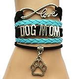 DOLON Infinity Love Dog Mom Bracelet-Black with Blue (Color: Black with Blue)