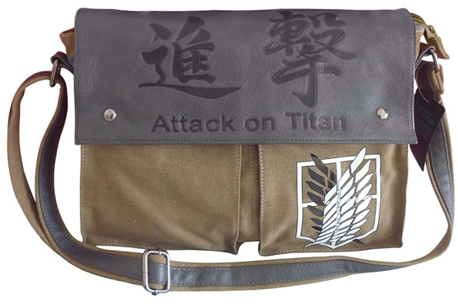 NuoYa001 Anime Shoulder Bag Canvas Messenger Satchel Attack on Titan no Kyojin Scouting anime shingeki no kyojin shoulder bag attack on titan sling pack school bags messenger bag travel male men s bag