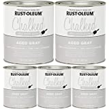 Rust-Oleum 285143 Ultra Matte Interior Chalked Paint 30 oz, Aged Gray - 5 Pack (Color: 5 Pack (Aged Gray))