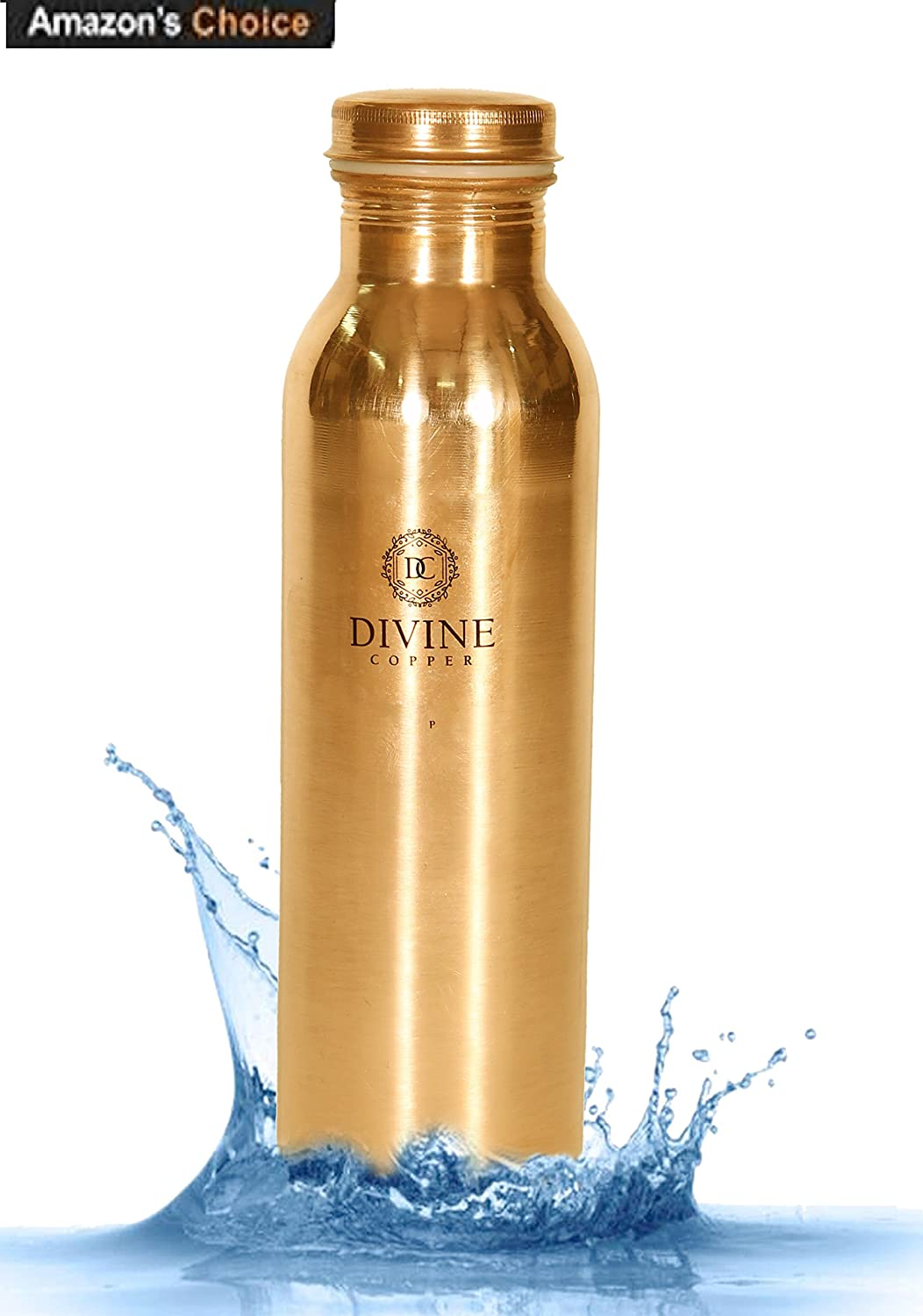 Upto 50% Off On Drinkware By Amazon | Divine Copper 100% Pure Handmade Copper Bottle-1000ml, Leak Proof & Joint Free for Ayurvedic Health Benefits @ Rs.599