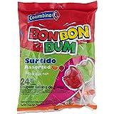 Colombina Bon Bon Bum Bubble Gum Lollipops Assorted (Pack of 24) (Tamaño: 1)