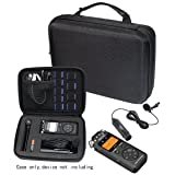 Professional Portable Recorder Case with DIY foam inlay for DR-05, DR-40, DR-22L, DR-100MKll, DR-1, Mini Tripod, Adapter, Mic Pop Windscreen, Smart accessory padding solution for SD cards, cabl (Color: Polyester Black)