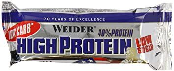 Weider Low Carb High Protein Bar, Stracciatella, 1er Pack (20 x 100g)