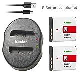Kastar Battery (X2) & Dual USB Charger for Sony NP-BG1 NPBG1 NP-FG1 NPFG1 and Cyber-shot DSC-W120 W150 W220 DSC-H3 H7 H9 H10 H20 DSC-H50 DSC-H55 DSC-H70 DSC-HX5V DSC-HX7V DSC-HX9V DSC-HX10V DSC-HX30V (Tamaño: 1 Dual charger + 2 batteries)