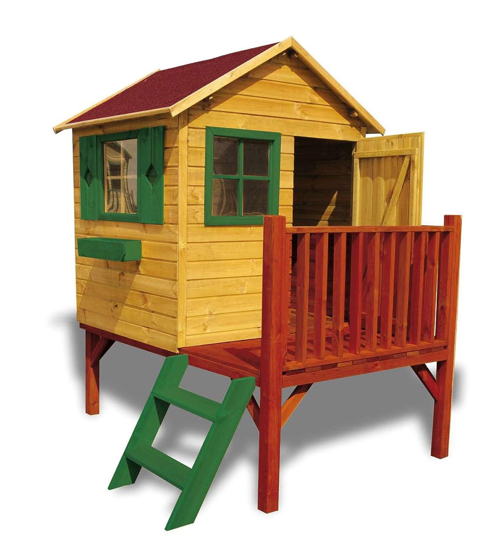 Kinderspielhaus MICHAEL mit RUTSCHE Kinderhaus Gartenhaus Gartenhäuser Spielhaus Stelzenhaus für Kinder online bestellen
