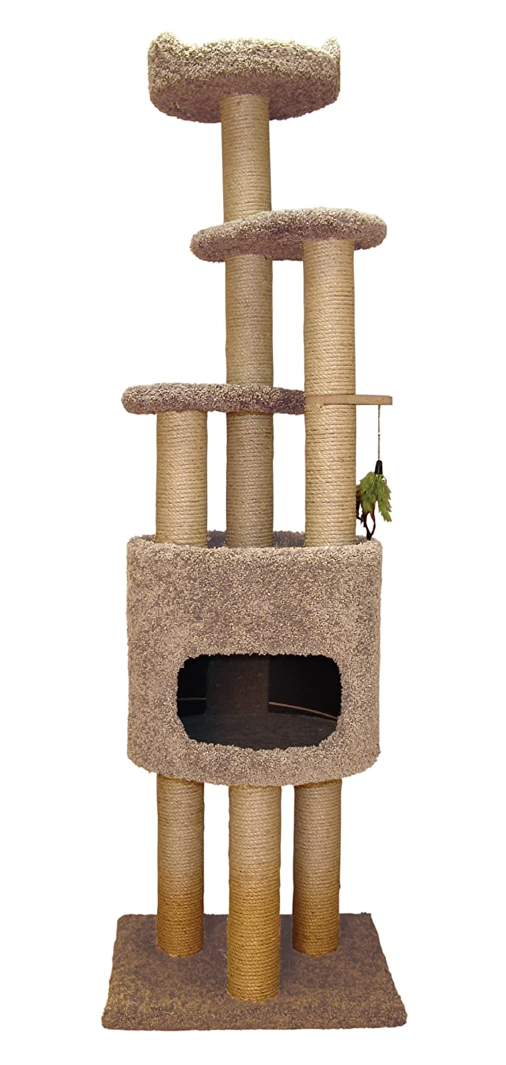 Family Cat Condo Cat Tree with Sky Lookout and Booster Base
