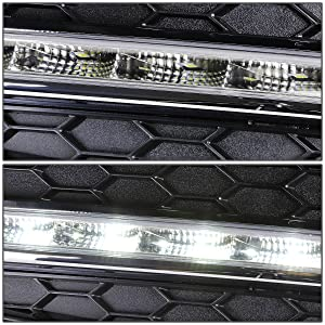 Driver /& Passenger Side DNA MOTORING FL-ZTL-157-CH Daytime Running Light