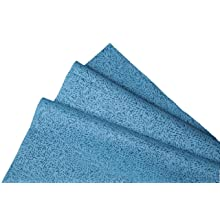 "Kimberly-Clark Kimtech Prep 33560 Disposable 1/4 Fold Wiper, 13"" Length x 12-1/2"" Width, Blue (8 Packs of 66)"