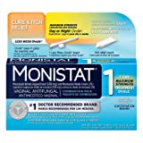 Monistat 1-Day Vaginal Antifungal | Cure & Itch Relief | Maximum Strength Treatment Ovule
