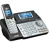 VTech DS6151 2-Line Cordless Phone System for Home or Small Business with Digital Answering System & Mailbox on each line, Black/silver (Color: Black/silver)