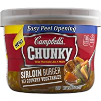 8-Pack Campbell's 15.25 Ounce Sirloin Burger with Country Vegetables Chunky Soup
