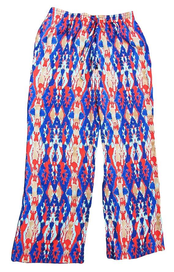 Jones New York Signature Women's Coral Spring Combo Draw String Pant