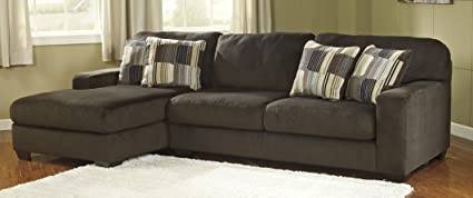 Benchcraft 19500-16-67 Westen Sectional Sofa with Left Arm Facing Corner Chaise and Right Arm Facing Sofa in Chocolate