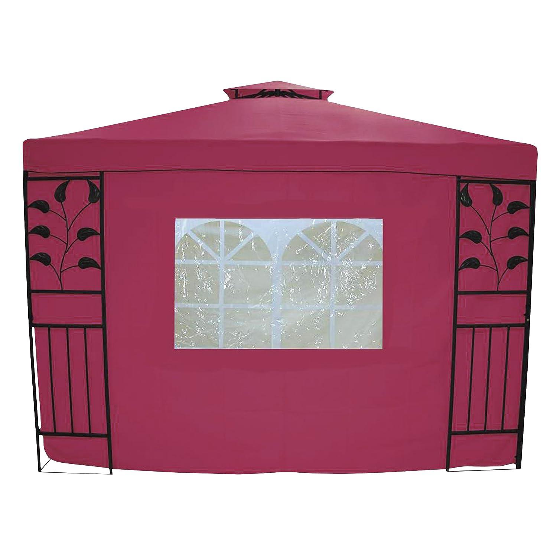 Greemotion 438542 Seitenwand Livorno, mit Fenster, bordeaux
