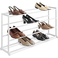 Whitmor 20 Pair Floor Shoe Rack (White)