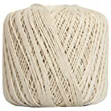 Threadart 100% Pure Cotton Crochet Thread - SIZE 3 - Color 2 - NATURAL -2 sizes 27 colors available (Color: NATURAL, Tamaño: SIZE 3 SINGLE)