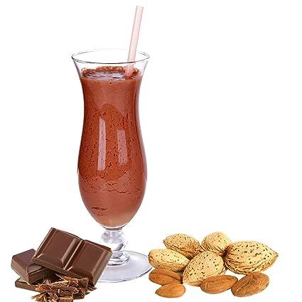 Bittermandel Schoko Geschmack Proteinpulver Vegan mit 90% reinem Protein Eiweiß L-Carnitin angereichert fur Proteinshakes Eiweißshakes Aspartamfrei (10 kg)
