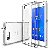 Ringke [Fusion] Compatible with Sony Xperia Z3 Compact Case [Free HD Film, Dust & Drop Protection][CLEAR] Shock Absorption Bumper Premium Hard Case (Not for Z3+/Z3/Z3 Dual/Z3v/Z3 Tablet) (Color: CLEAR)